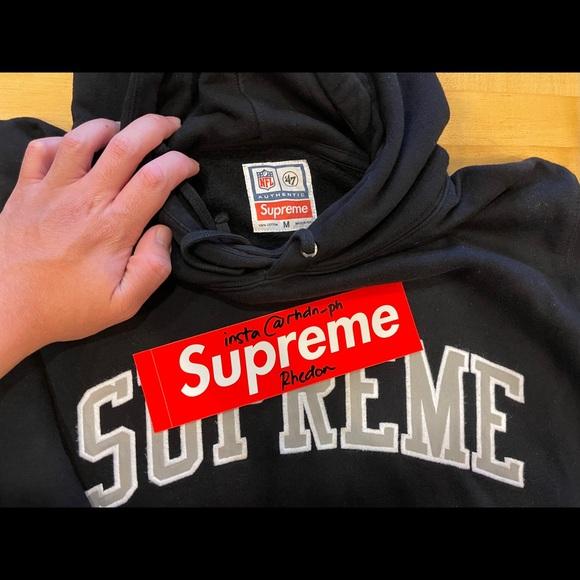 supreme nfl x raider x '47 hooded sweatshirt